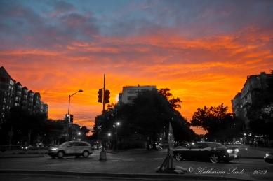 Sonnenuntergang in Washington