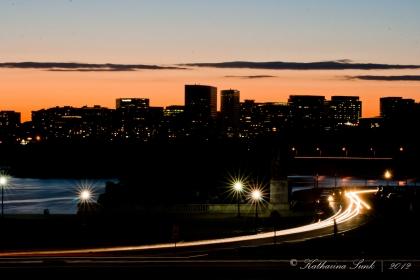 Sonnenuntergang hinter dem Lincoln Memorial